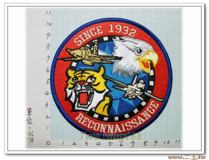★☆空軍F-5E&F-16偵察隊臂章★☆國內70★飛行服 飛行夾克