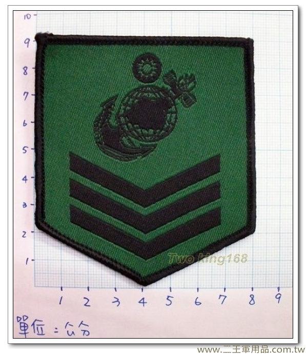 ☆海軍陸戰隊上兵臂章(低視度) 迷彩服 虎斑迷彩 海陸