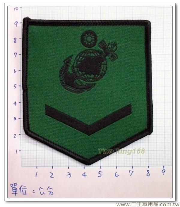 ☆海軍陸戰隊二兵臂章(低視度) 迷彩服 虎斑 海陸
