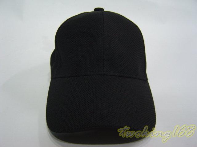 ★二王軍警防身百貨★黑色透氣排汗帽【3-7】★ 鴨舌帽 棒球帽 小帽