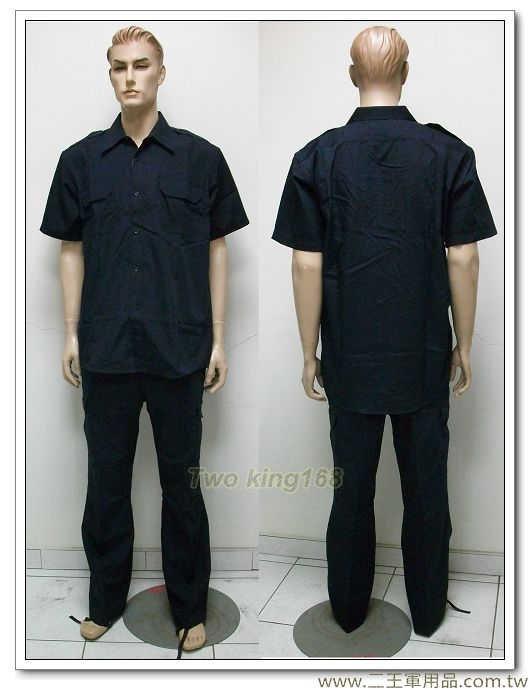★新式霹靂服 套裝-特勤服-戰術服裝(深藍色)(短袖上衣+長褲) SWAT 特警