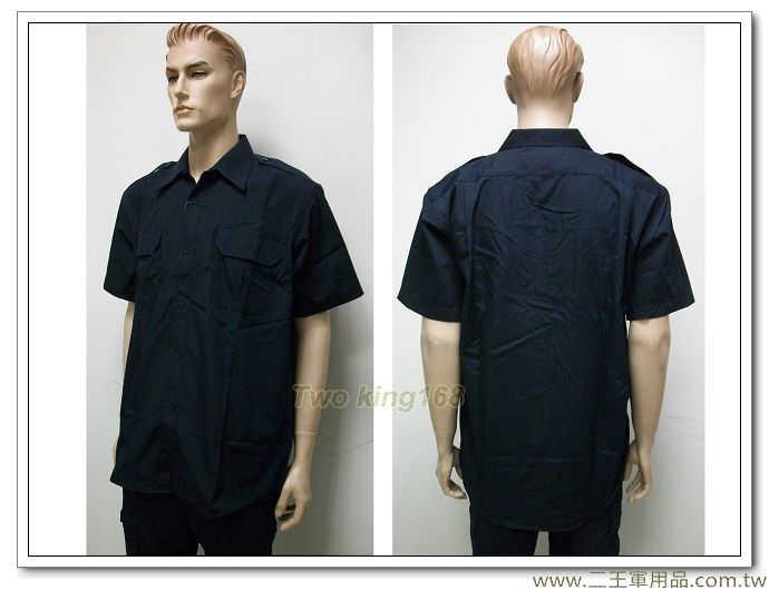 新式霹靂服短袖上衣-特勤服-(深藍色)-1200元 SWAT 特警 戰術 襯衫