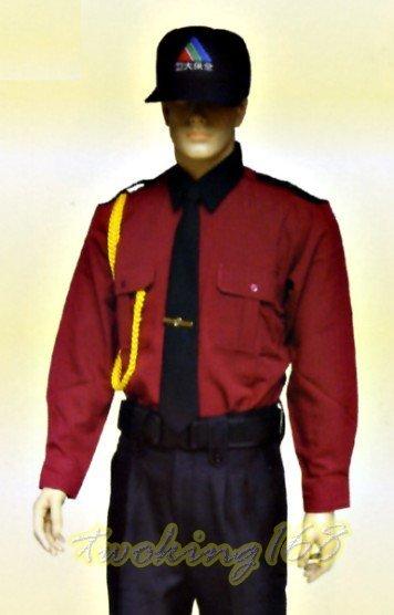 暗紅長袖襯衫#921☆★Cosplay☆★保全/民防/義消/義警/巡守