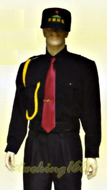 黑色長袖襯衫#19☆★Cosplay☆★保全/民防/義消/義警/巡守