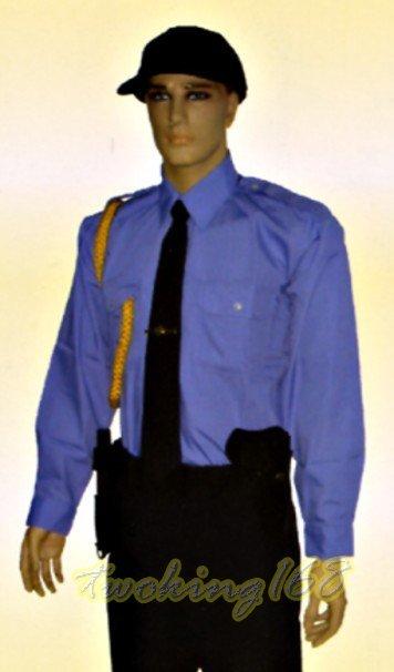 警察/保全/民防/義消/義警/巡守/服裝系列~09-中淺水籃色長袖襯衫