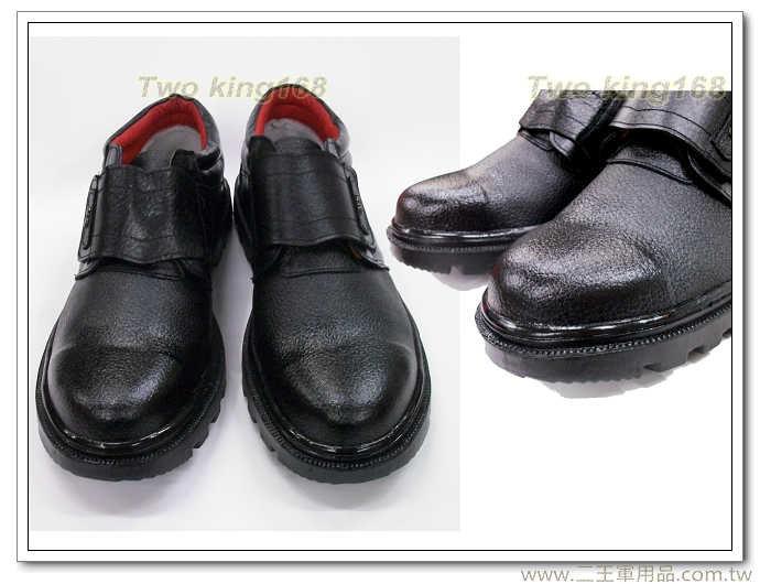 二王軍警防身用品★真皮防滑防油魔鬼氈安全鞋116-寬版設計-鞋子側面及鞋跟皮面每雙會有不同紋路★ 工作鞋 安全鞋