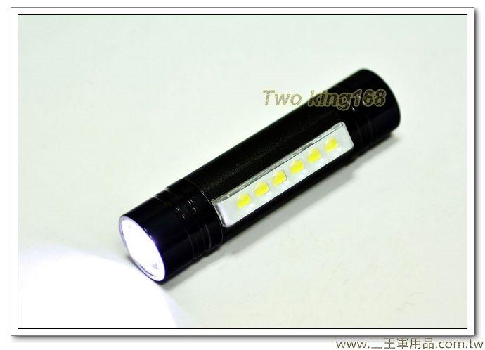 可夾式工作型LED手電筒(不含電池)【EDS-G621】