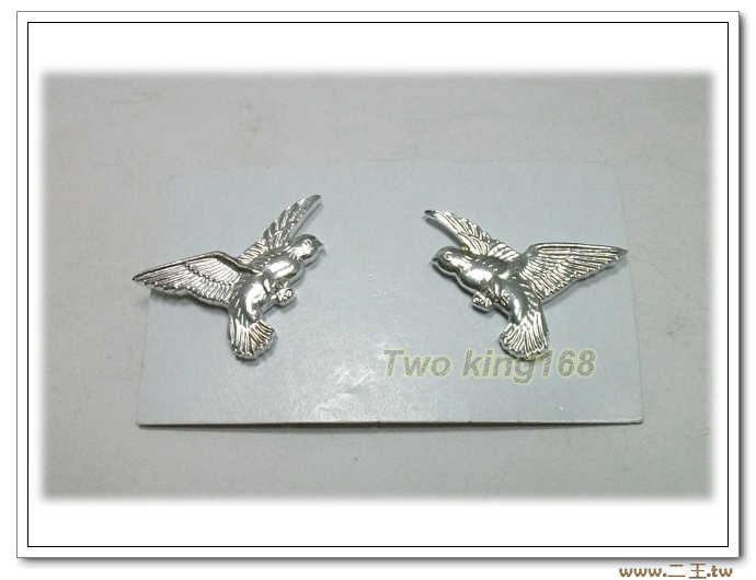 義警領章(鋁質.銀色)-警察領章-警鴿領章一對50元