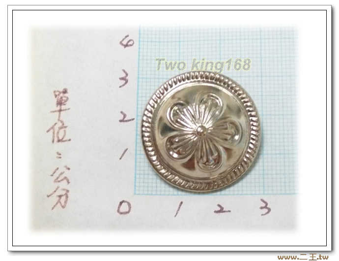 義警制服金屬鈕扣-警察鈕扣(鋁質.銀色)(大)
