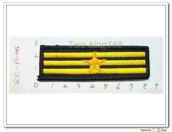 警察胸階三線一星--警察胸章