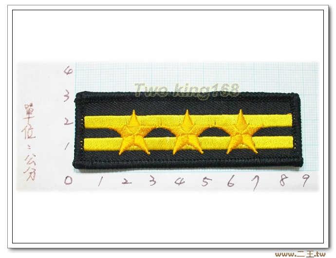 警察胸階二線三星--警察胸章