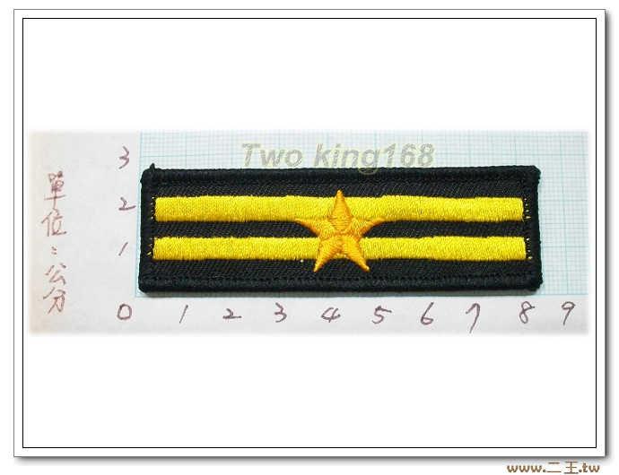 警察胸階二線一星--警察胸章