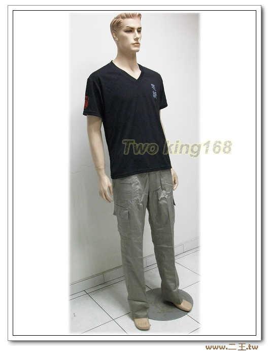 淺灰色工作褲4L(9520)-多口袋工作褲