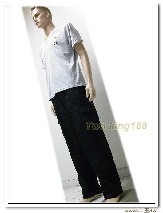 黑色工作褲4L(9520)-多口袋工作褲