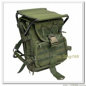軍綠色板凳背包(台灣製) 後方為雙層袋設計-可放筆電 #板凳包 #椅子背包