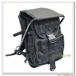 黑色板凳背包(台灣製) 後方為雙層袋設計-可放筆電 #板凳包 #椅子背包(龍)