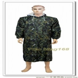 國軍數位迷彩披風式雨衣(連身式)