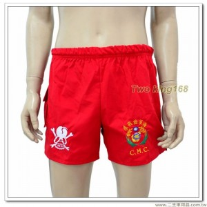 早期海軍陸戰隊運動短褲(紅色)(骷顱頭標誌)