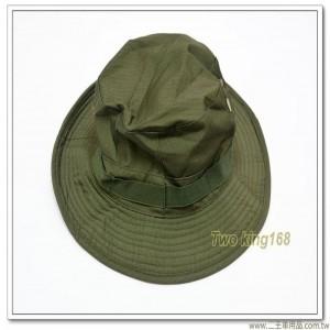 軍綠色擴邊帽 (十字格紋)