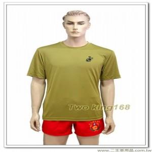 海軍陸戰隊涼感衣(卡其色) #彈力排汗衫
