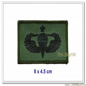 傘徽胸章一顆梅花(綠邊)(黑色繡線綠布底)【6-21】