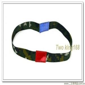 國軍數位迷彩綠色戰備三色帶(頭盔用)