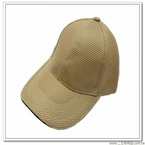 三層排汗帽(卡其色前滾黑邊)  [3-9-4]