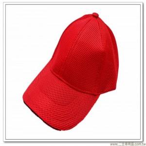 三層排汗帽(紅色前滾黑邊)  [3-9-3]