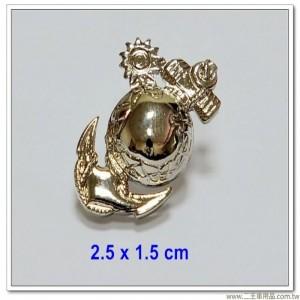 海軍陸戰隊徽(銀色小型銅質)【bn19-7-1】