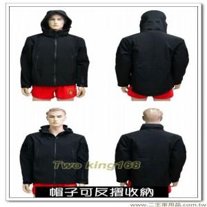 防水透氣黑色外套(連帽) #軟殼衣 #鯊魚皮
