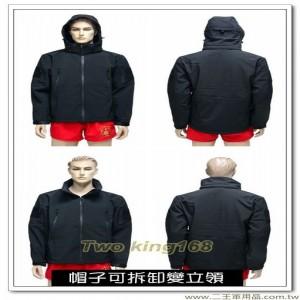 防水透氣黑色外套(可拆帽) #軟殼衣 #鯊魚皮