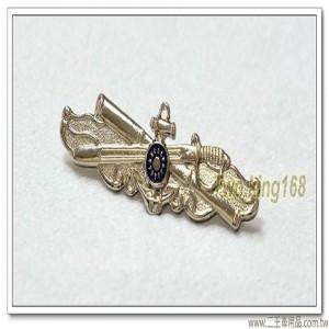 海軍艙面值更官徽章(中)(銀色銅質)【bn8-2】