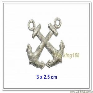 海軍海錨(銀色)(3公分)(鋁質)【bg1-12-1】