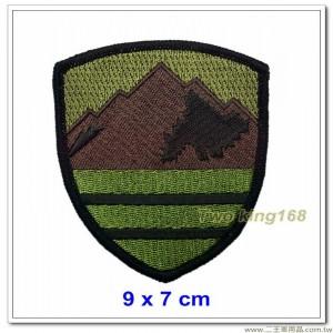 陸軍十軍團臂章(低視度咖啡色)【15-4-1】