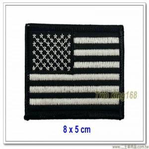 美國國旗臂章(黑框)(順風)