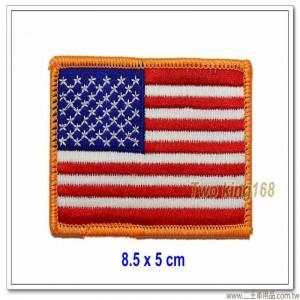 美國國旗臂章(黃框)(順風)(外銷品) 特價