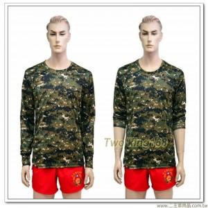 叢林數位迷彩長袖內衣(中空保暖)