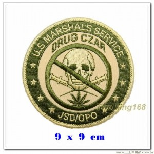 美國法警、毒品沙皇臂章(綠圈)【國外566】