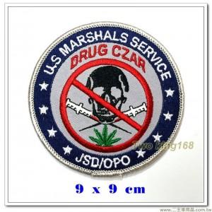 美國法警、毒品沙皇臂章(藍圈)【國外567】