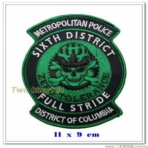 哥倫比亞特區-第六區地鐵警察臂章 【國外594】