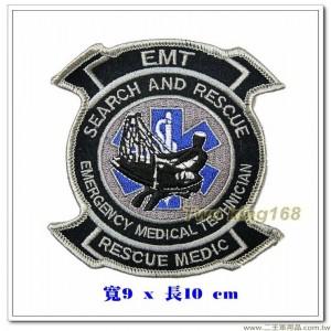 緊急醫療救護員-搜索和救援臂章 #軍醫救援服務【國外602】