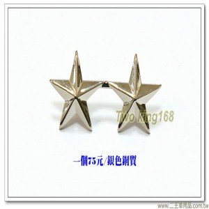 空軍船型帽帽階(小)(中將)(銀色銅質) #船型帽軍階級
