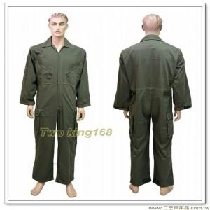 陸軍專用軍綠色長袖連身工作服(斜口袋拉鍊版) #技工服 #連身服