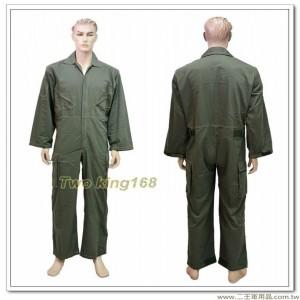 陸軍專用軍綠色長袖連身工作服(斜口袋魔鬼氈版) #技工服 #連身服