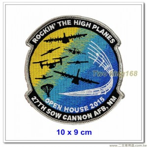 美國空軍大砲空軍基地第27屆SOW公開賽紀念臂章(10x9)【國外609】