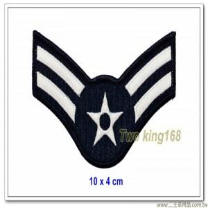 美國空軍階級臂章(上兵)(10x4)【國外612】