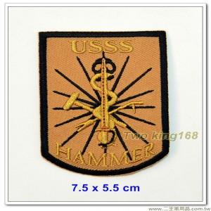 美國特勤局臂章(淺咖啡底)(7.5x5.5) 【國外618】