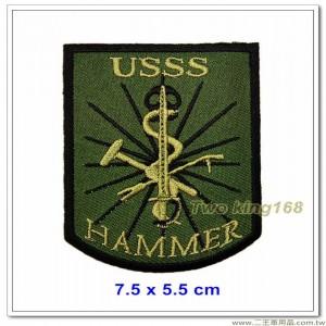 美國特勤局臂章(綠底)(7.5x5.5)【國外619】