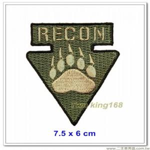美國黑水保全強偵隊臂章(7.5x6)【國外624】