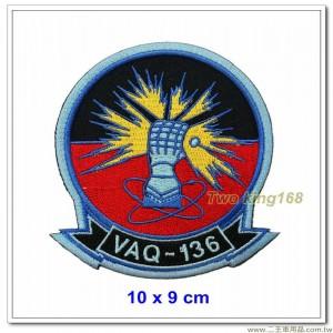 美國海軍電子攻擊中隊(VAQ-136)臂章 #護手 (10x9)【國外633】
